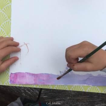 peinture violette à base de chou rouge qui devient rose avec du vinaigre