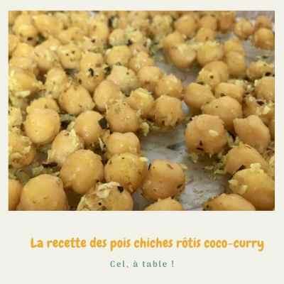 la recette des pois chiches rôtis coco-curry
