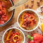 Manger des légumes secs #1 : piperade aux haricots rouges