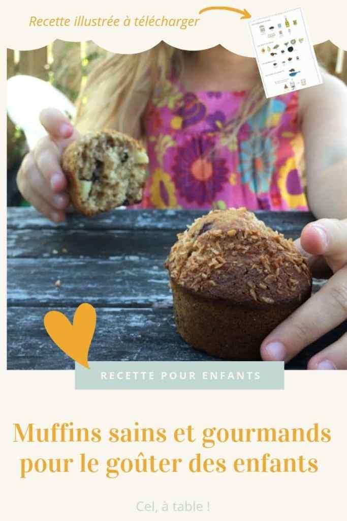 muffins sains et gourmands pour le goûter des enfants avec recette illustrée à télécharger
