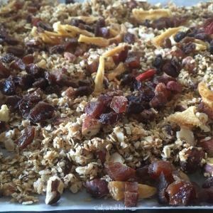 rajouter les fruits secs aux céréales maison