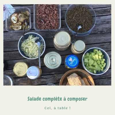 Salade complète à composer soi-même