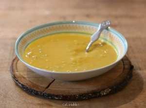 soupe courge & lentilles