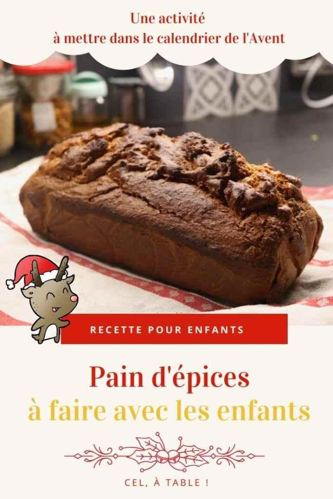 Recette de pain d'épices à faire avec les enfants, une activité à mettre dans le calendrier de l'Avent