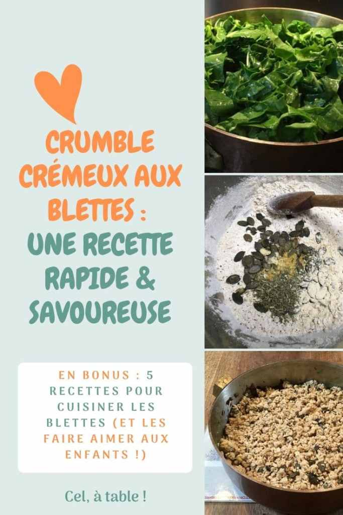 crumble crémeux aux blettes : une recette rapide et savoureuse