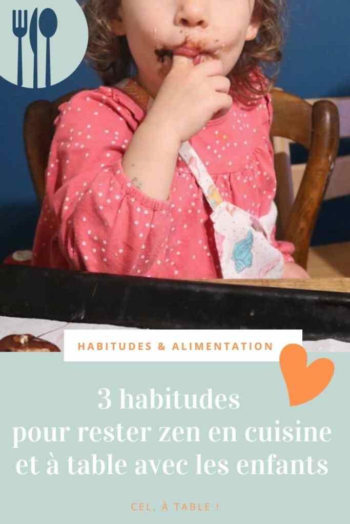 3 habitudes pour rester zen en cuisine et à table avec les enfants