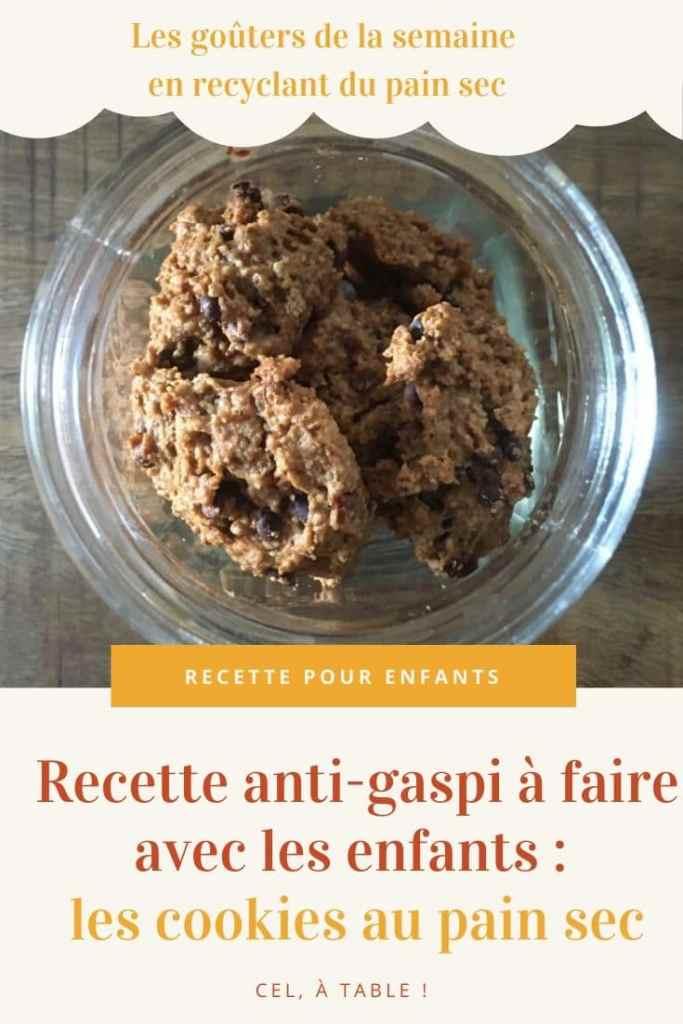 Recette anti-gaspi avec les enfants : les cookies au pain sec