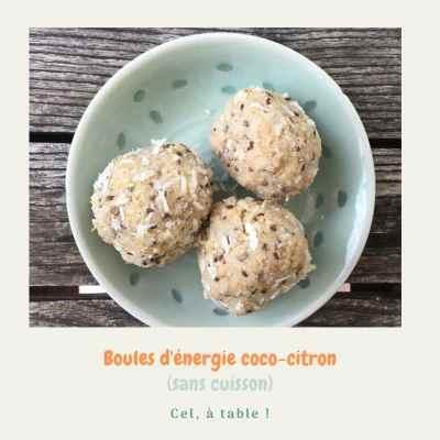 boules d'énergie coco-citron