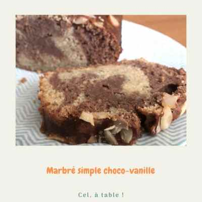 marbré simple choco-vanille