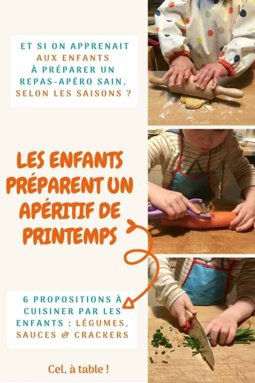 les enfants préparent un apéritif de printemps