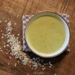 Des flocons de céréales dans une soupe ? Velouté poireaux & curry