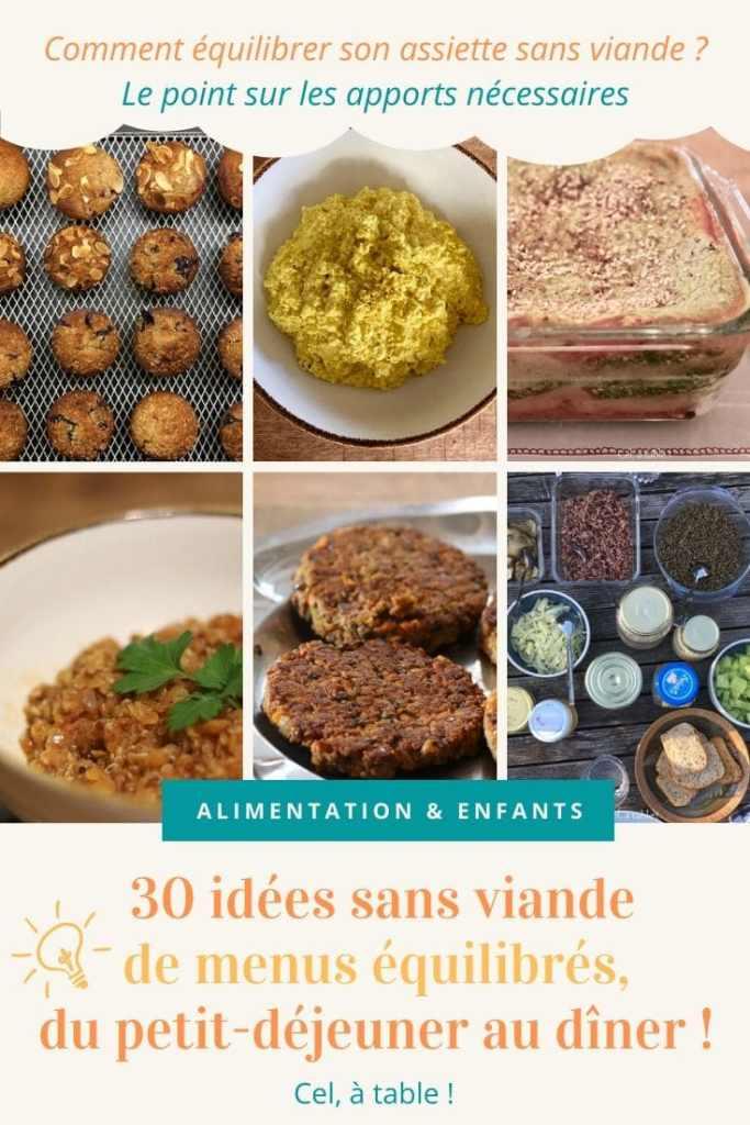 30 idées sans viande de menus équilibrés du petit-déjeuner au dîner