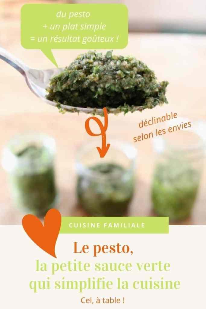 Le pesto, une petite sauce verte déclinable selon les envies et qui simplifie la cuisine