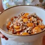 La fondue de légumes version carottes, lardons & sarrasin
