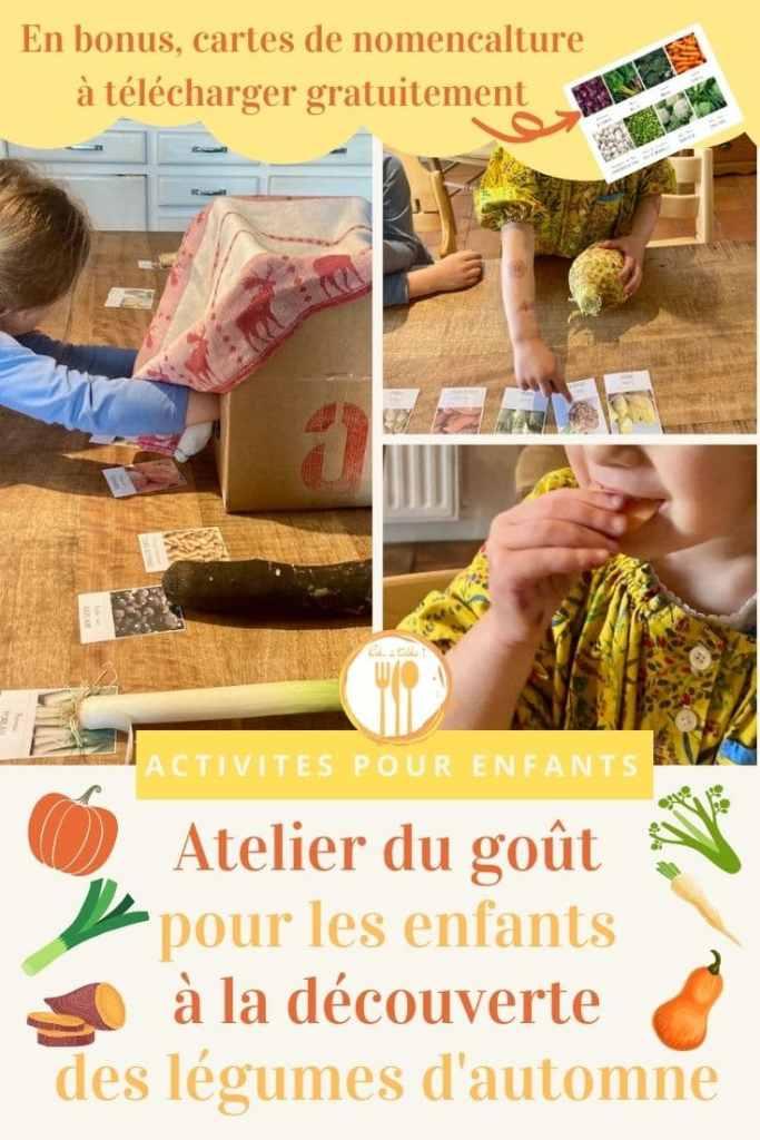Atelier du goût pour les enfants à la découverte des légumes d'automne