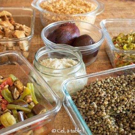 préparation des repas en mode batchcooking