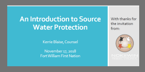 An Introduction to Source Water Protection