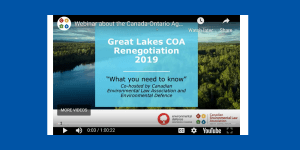 COA Agreement on Great Lakes Water Quality and Ecosystem Health