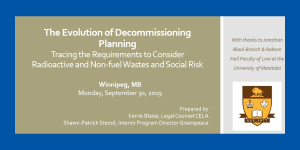 The Evolution of Decommissioning Planning