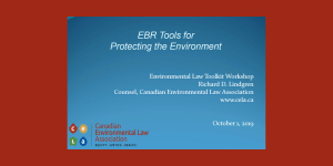 EBR Tools for  Protecting the Environment