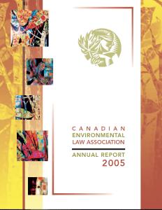 CELA Annual Report, 2005