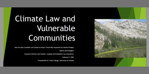 Climate Law and Vulnerable Communities