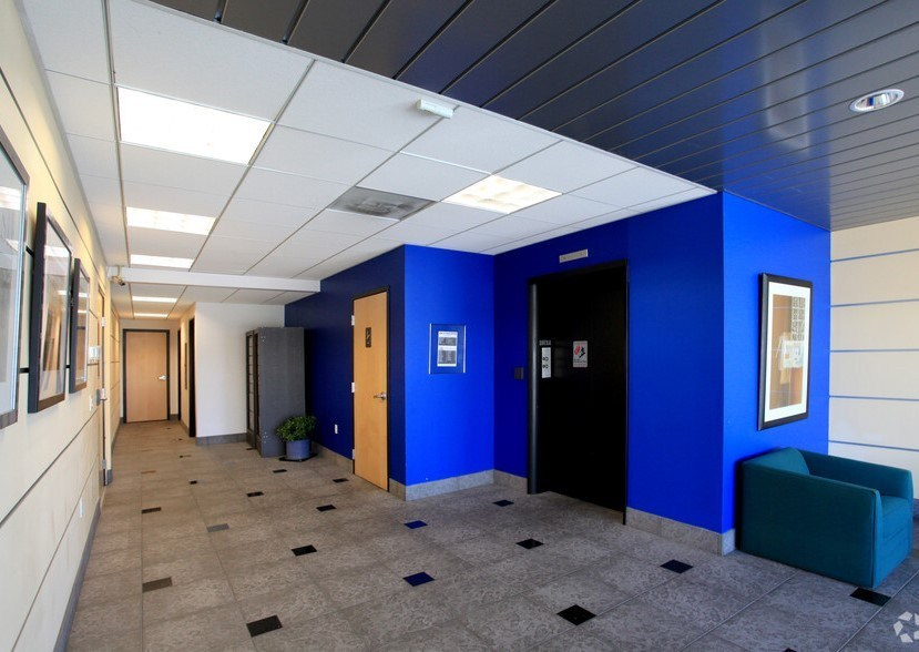 Image inside the lobby of Celador Media office building at 6060 W Manchester Ave.