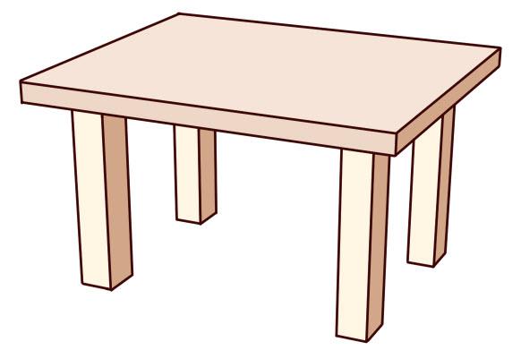Dessin en perspective  Dessin de tables aux pieds varis avec une perspective  trois points de