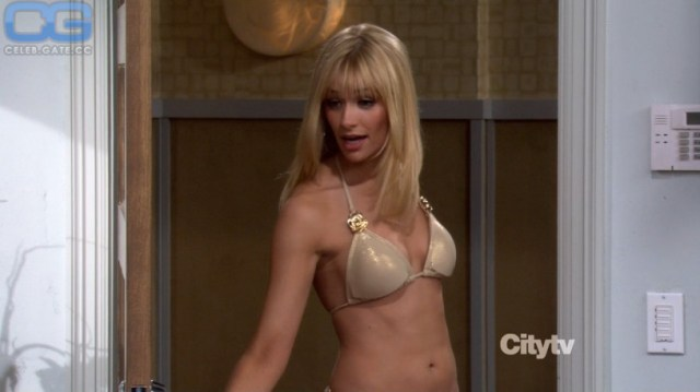 Beth Behrs Topless Posing