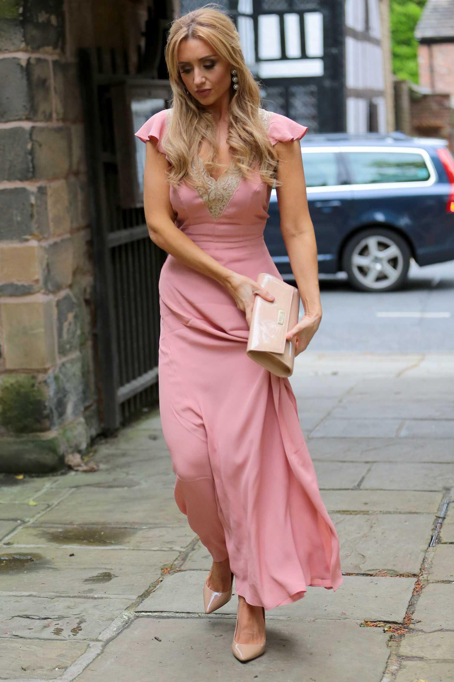 Catherine Tyldesley Arrives At The Poppy Rush Wedding