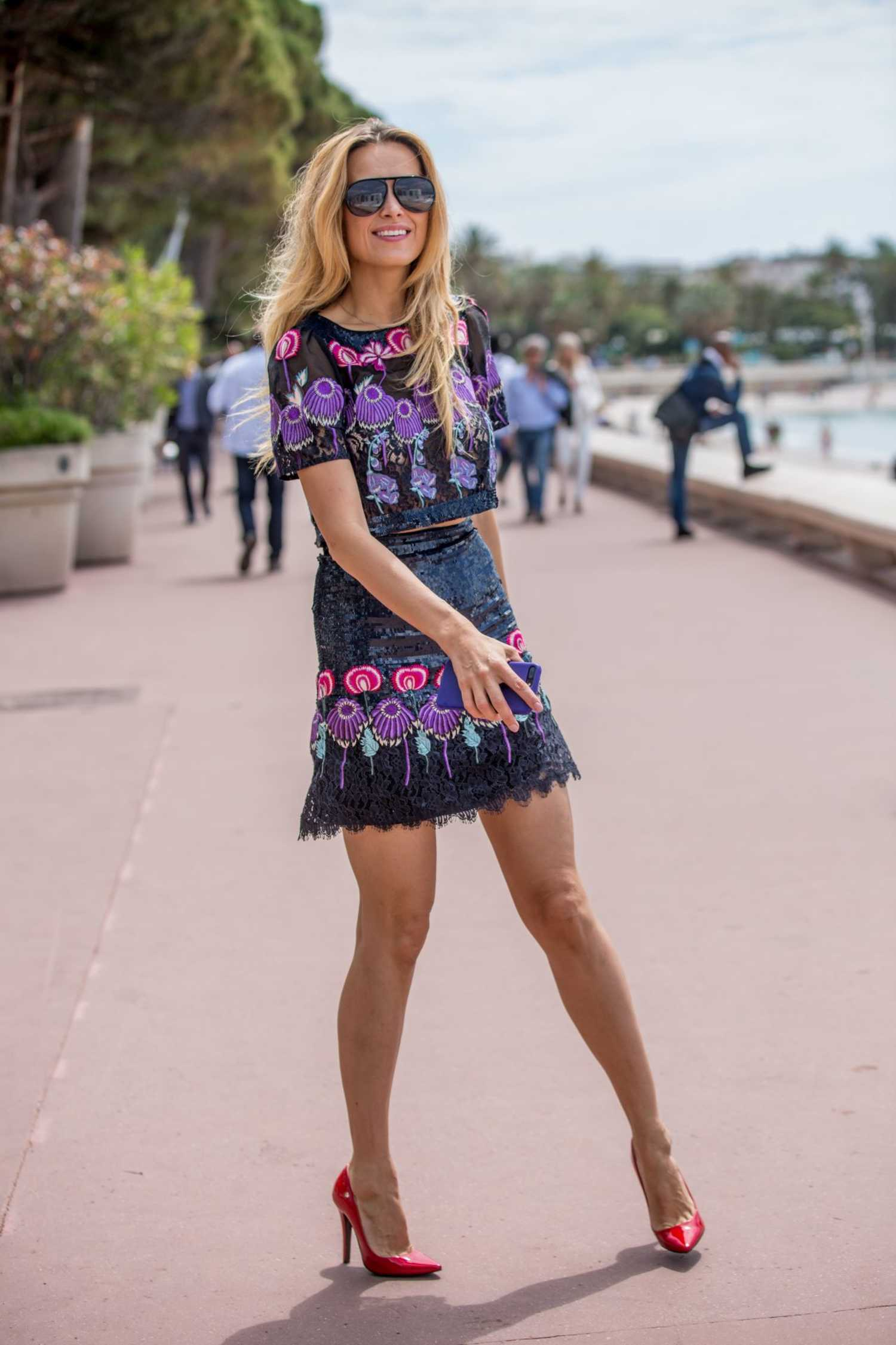 Petra Nemcova Wears a Mini Skirt Out in Cannes  Celeb Donut