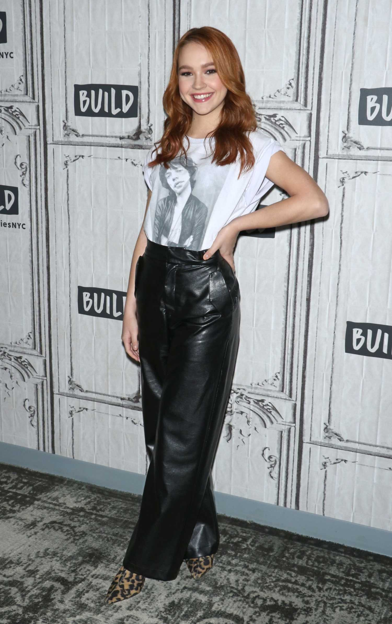 Sadie Stanley Attends AOL Build Studio in New York City