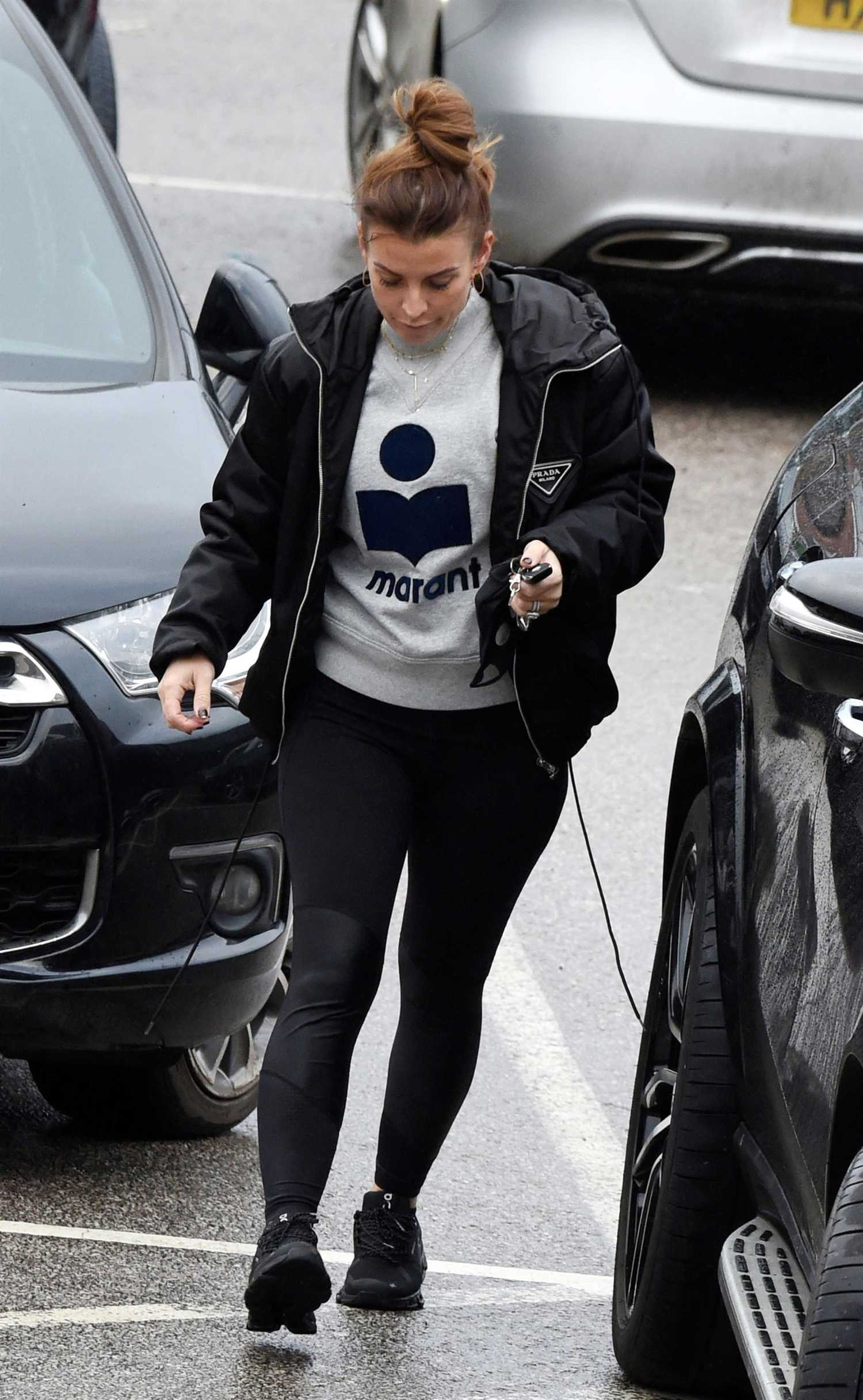 Coleen Rooney in a Black Prada Jacket Goes Shopping at Waitrose in Cheshire – Celeb Donut