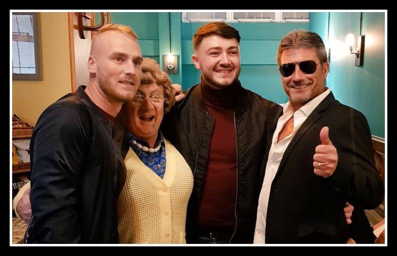Ashley Buckenham, Mrs Brown, Wayne Woodward & Simon Cowell