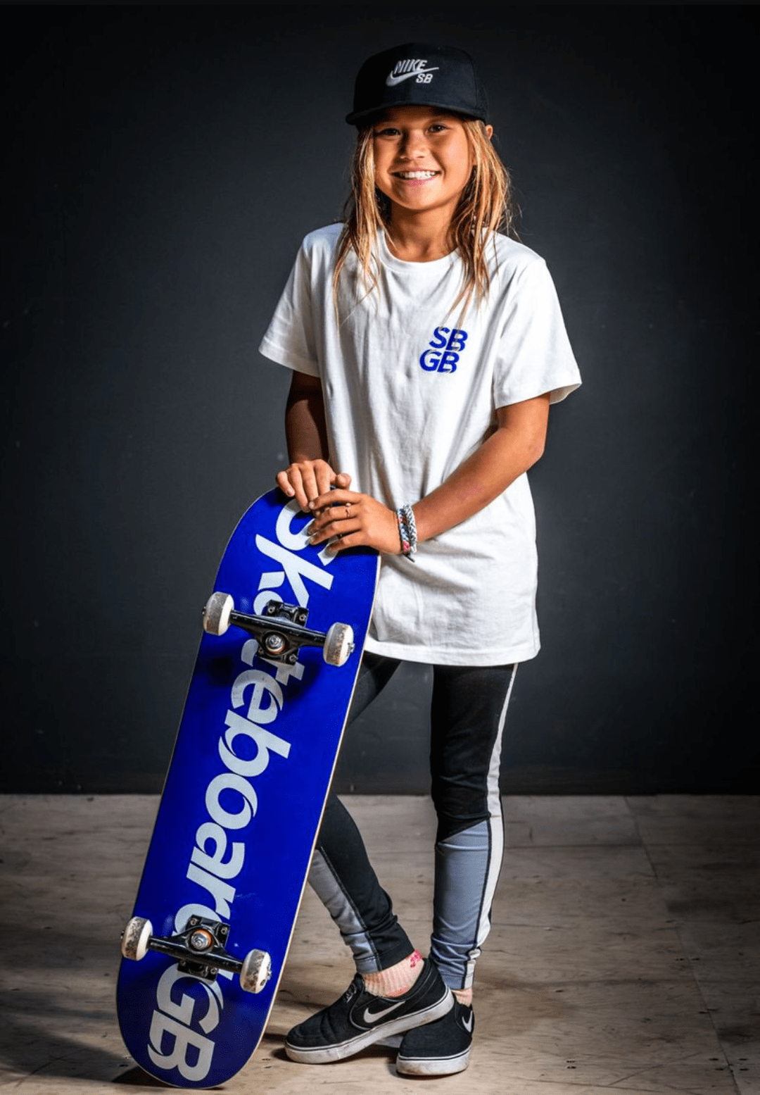Sky Brown With Her Skateboard
