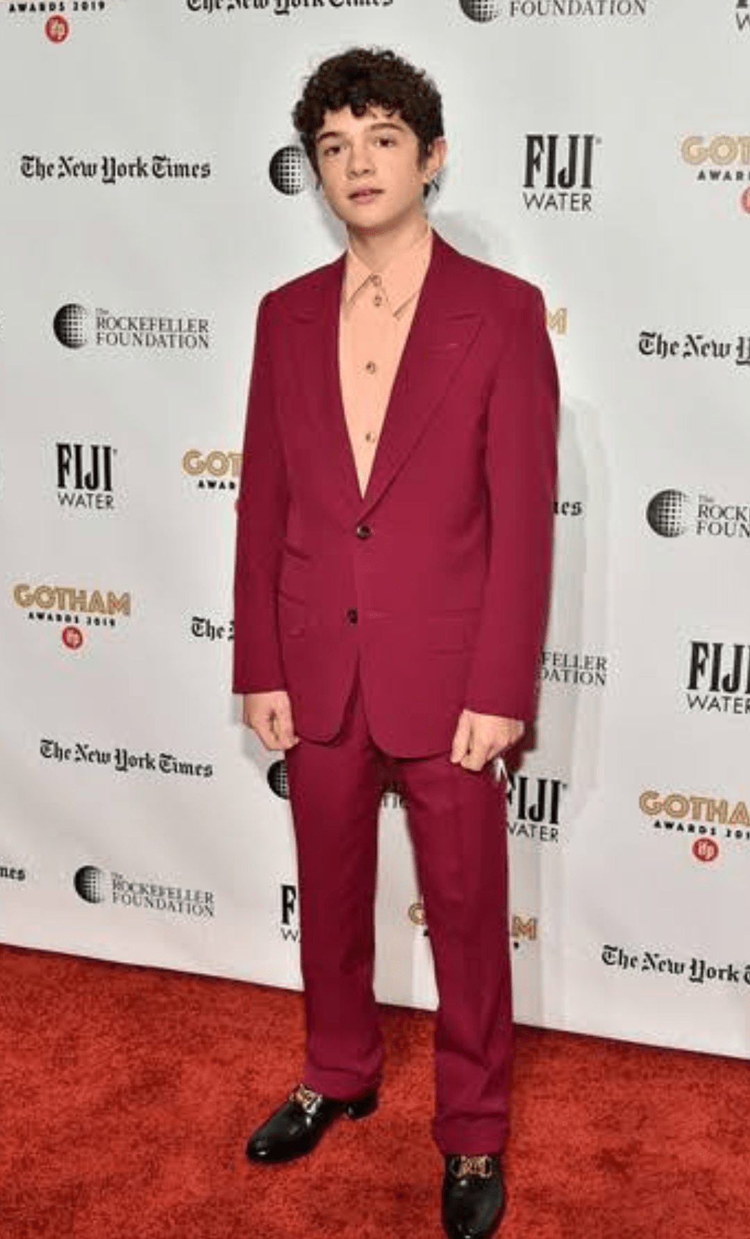 The Young American Actor In a Red Coat