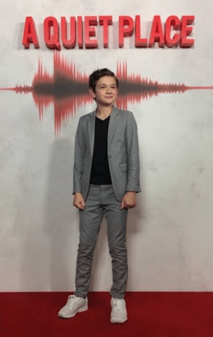 """Noah Jupe at the """"A Quiet Place"""" movie release"""