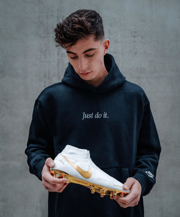 Kai Havertz Holding His Phantom Golden Boot