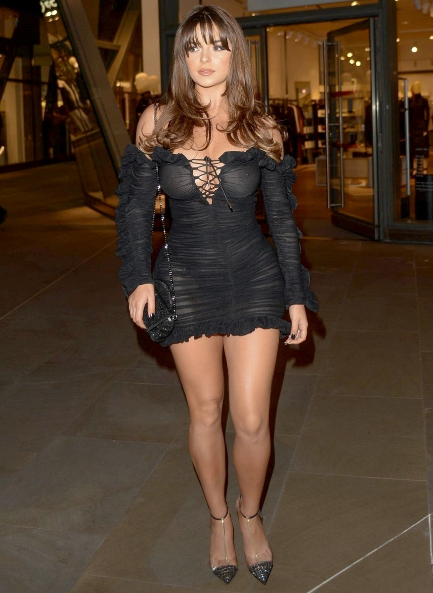 Demi Rose Shows Her Tits In A See Through Dress
