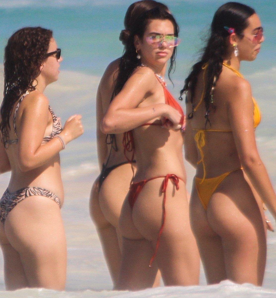 Dua Lipa Nude Pageant Headshot And Ass Thong Bikini Pics