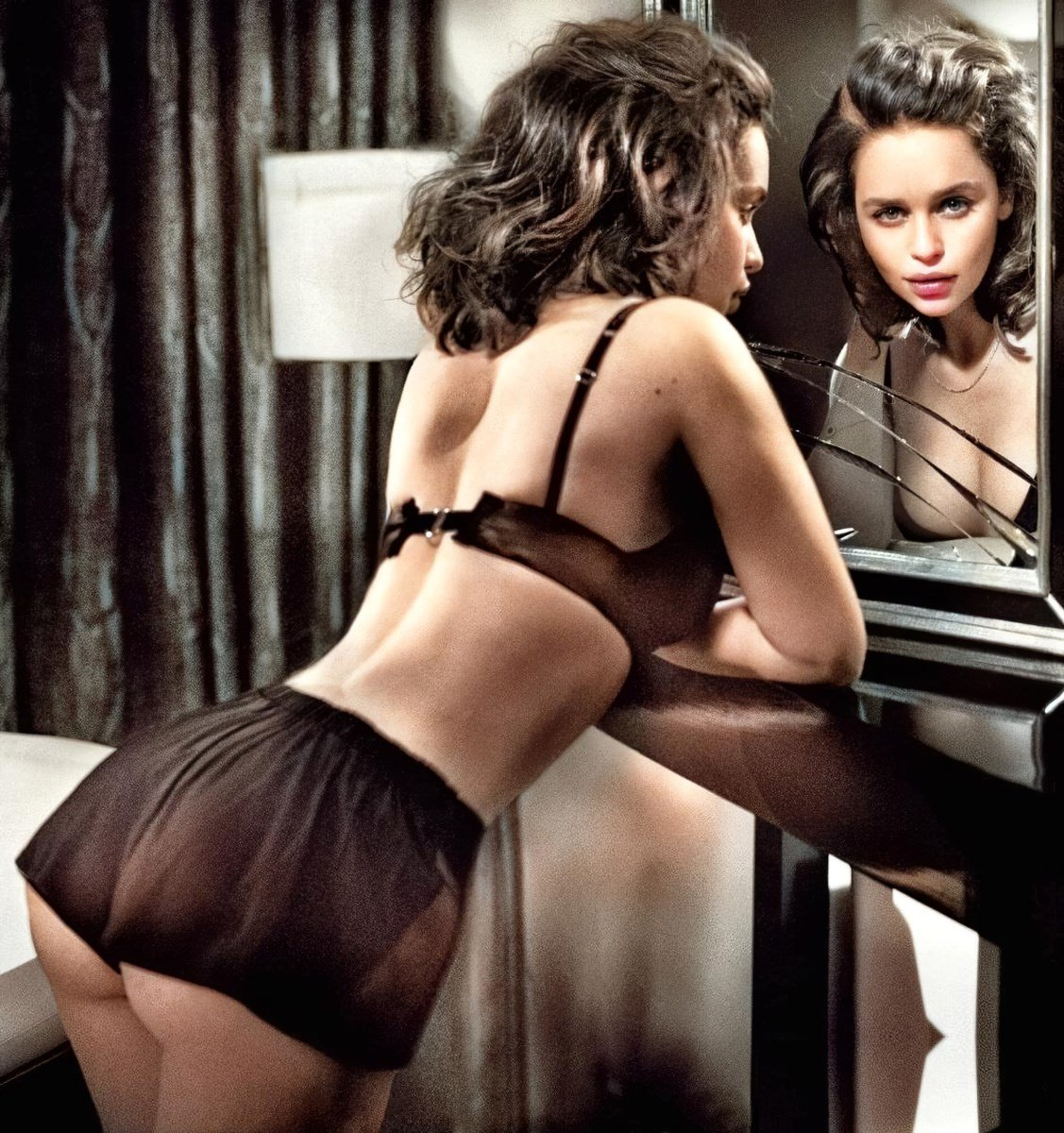Emilia Clarke Covered Nudes Colorized