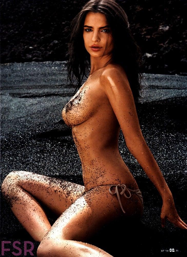 Emily Ratajkowski Hypocritical Covered Topless Pics For GQ