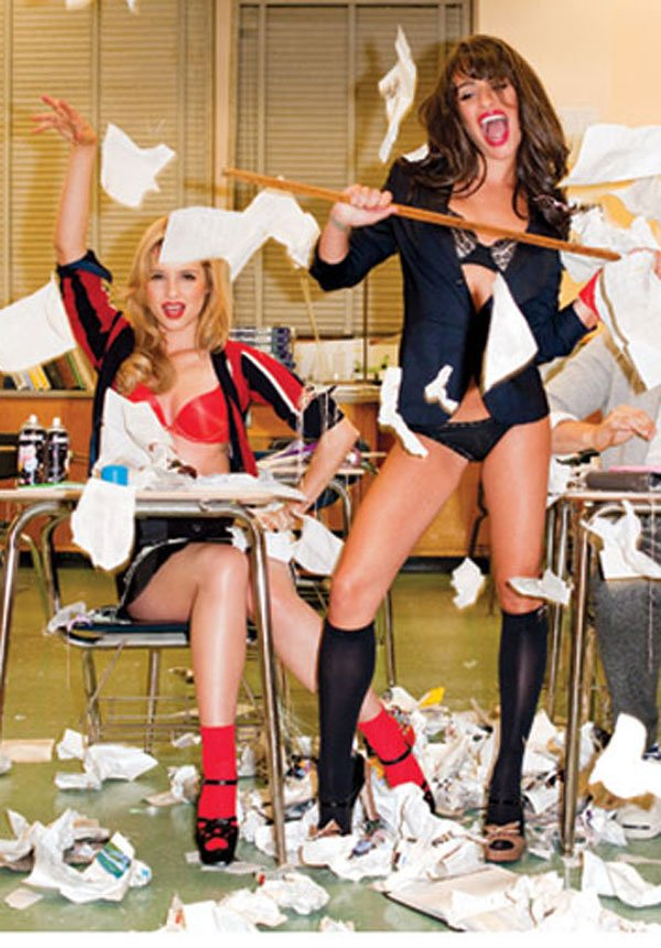 The Girls From Glee In Their Underwear