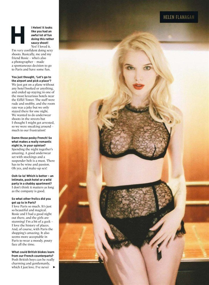 Helen Flanagan Reveals All In Nuts Magazine