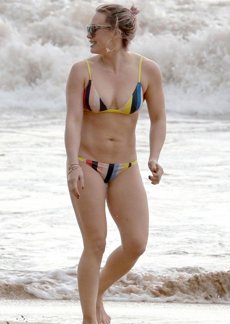 "Hilary Duff Shows Off Her Disgusting ""Mom Bod"" In A Bikini"