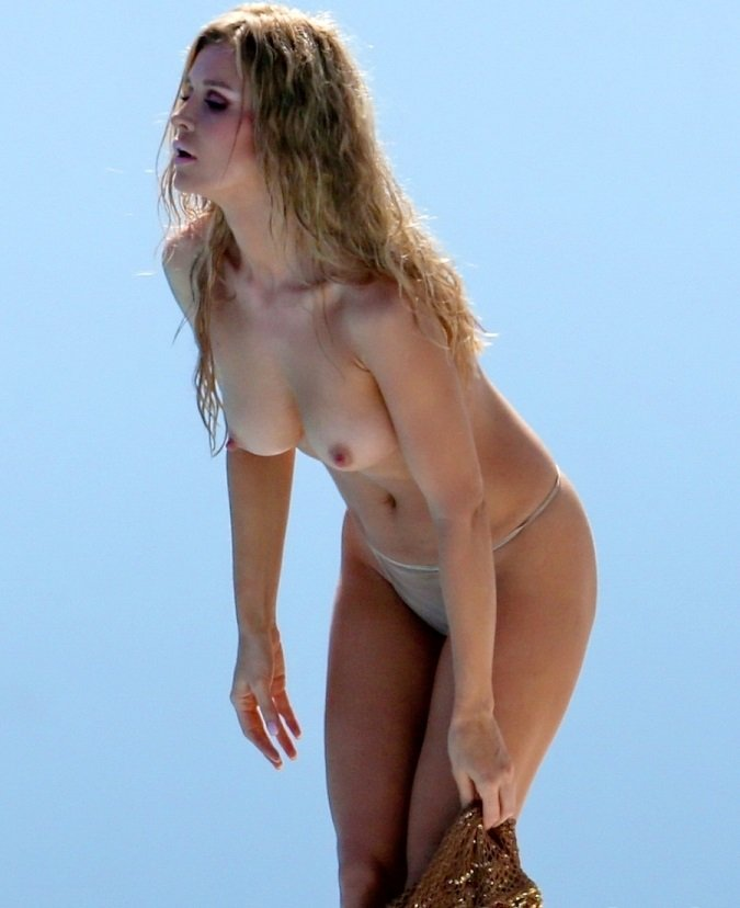 Joanna Krupa Topless Photo Shoot Behind The Scenes Pics