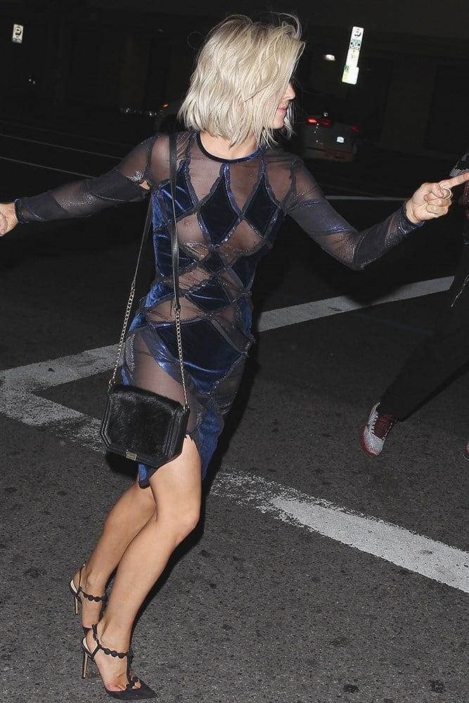 Julianne Hough Drunken Nip Slip In A Sheer Dress