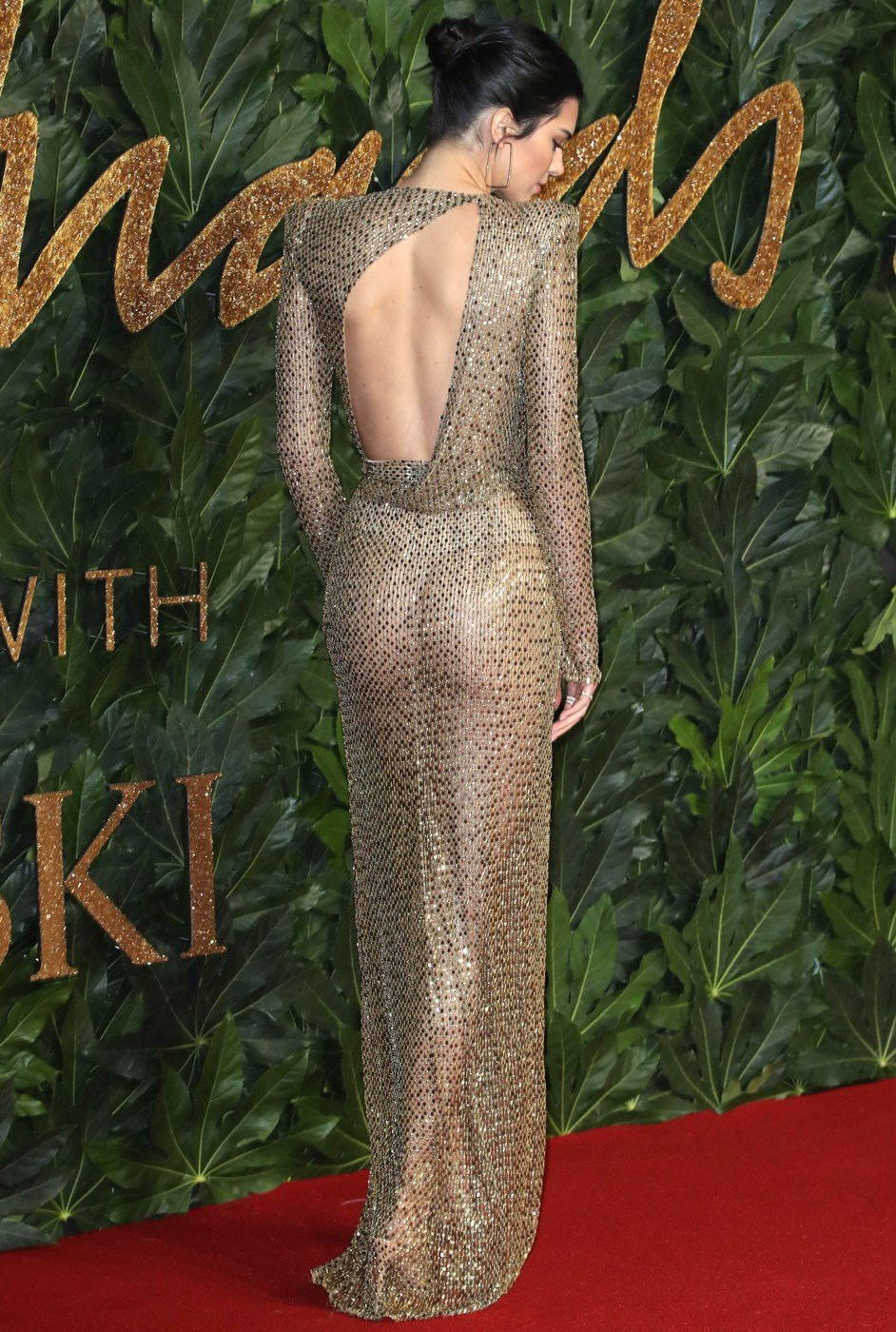 Kendall Jenner Shows Her Tits And Ass In A See Thru Dress