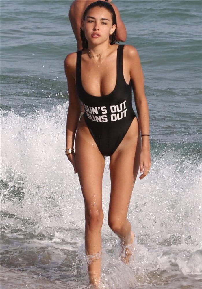 Madison Beer Begging For It In Thong Bikinis