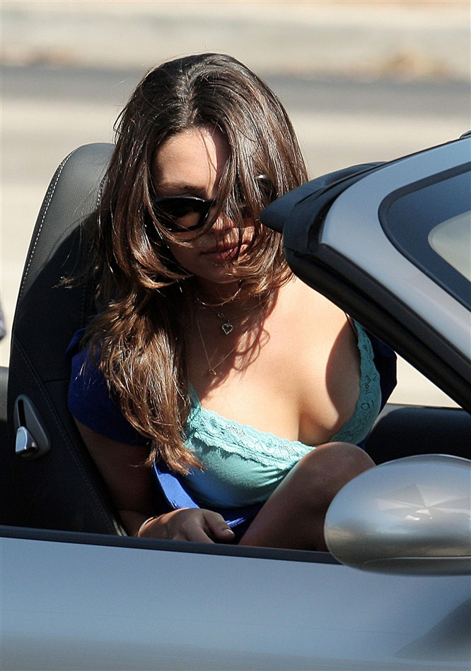Mila Kunis Shows Some Serious Cleavage